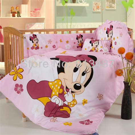 Baby Minnie Mouse Crib Bedding by Shop Popular Baby Minnie Mouse Bedding From China Aliexpress