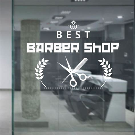 wall sticker shop aliexpress buy barber shop vinyl wall decal barber cuts beard shaver scissors