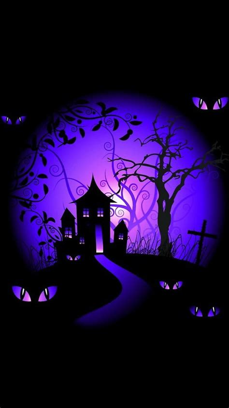 halloween themes for phones iphone wallpapers background black and purple halloween