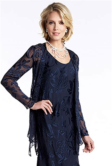 Dress With Jacket navy tiered floaty dress and jacket 78486 catherines of