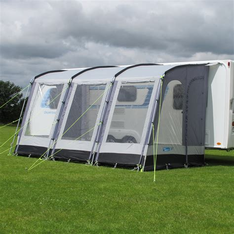 Caravan And Awning by Ka Rally 390 Caravan Porch Awning Pearl Grey Aztec