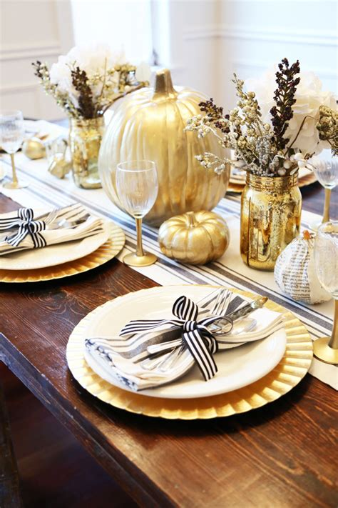 black and gold table setting all set black and gold thanksgiving table dress cori