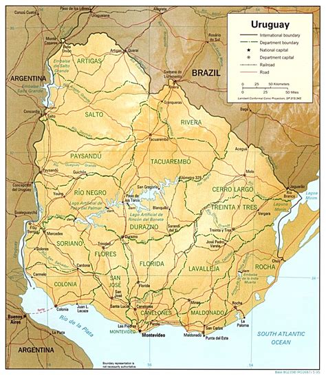 5 Themes Of Geography Uruguay | uruguay map geography and maps of uruguay