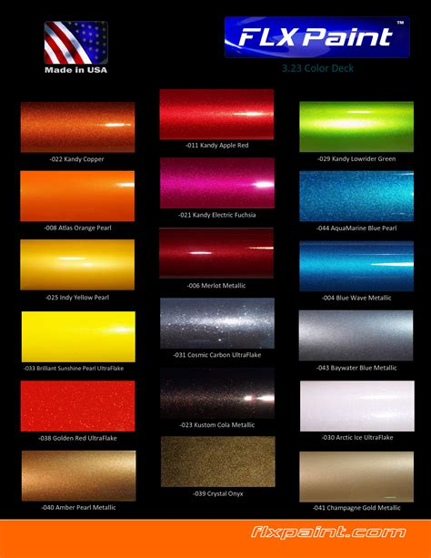 dupont automotive metallic color chart images