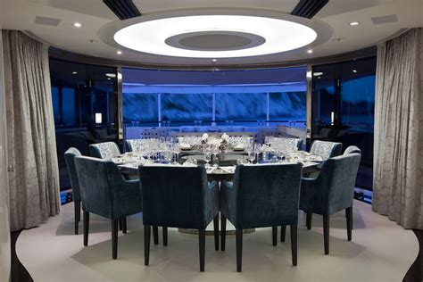 sumptuous dining table for 12 guests superyacht quinta