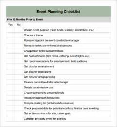 event checklist template event planning checklist 11 free documents in pdf
