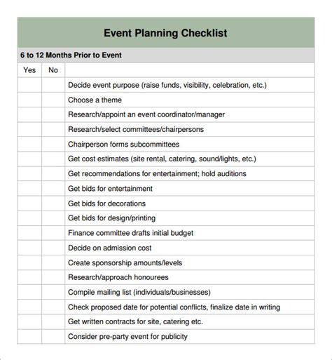 Event checkliste download