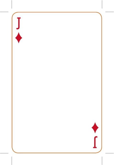 Blank Card Deck Template by Best Photos Of Card Template Card Deck