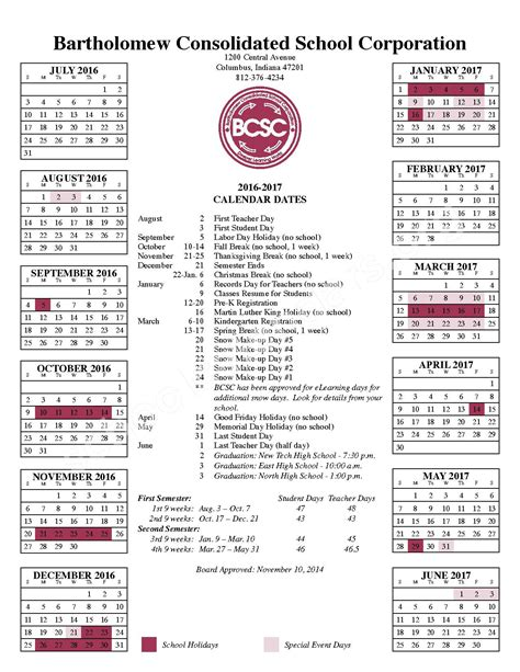 Columbus Schools Calendar Csa Lincoln Cus Calendars Columbus In