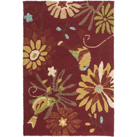 Artistic Weavers Mount Patterson Burgundy 3 Ft X 5 Ft Weavers Outdoor Rugs