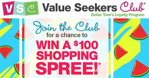 Dollar Tree Sweepstakes - dollar tree value seekers club sweepstakes