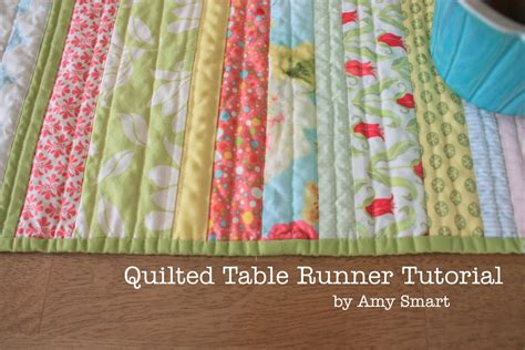 Quilted Table Runner Tutorial easy diy quilt table runner