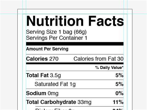 Vector Nutrition Facts Label By Greg Shuster Dribbble Dribbble Nutrition Label Template