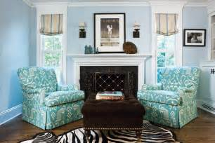 aqua turquoise white living room patterned chair zebra