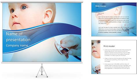 Pediatrics Powerpoint Template Backgrounds Id 0000006847 Smiletemplates Com Pediatric Powerpoint Templates Free
