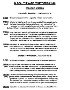 Thematic Essay Exle by Global History Thematic Essay Topic 12 20 Outline Exle
