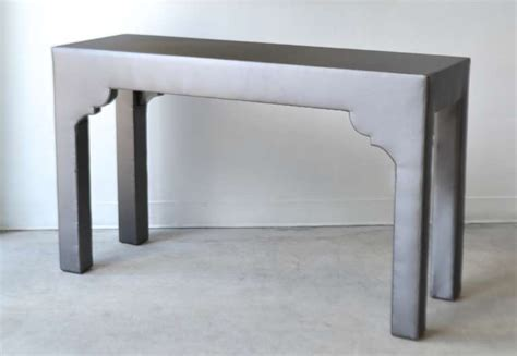 Upholstered Console Table Custom Upholstered Console Table At 1stdibs
