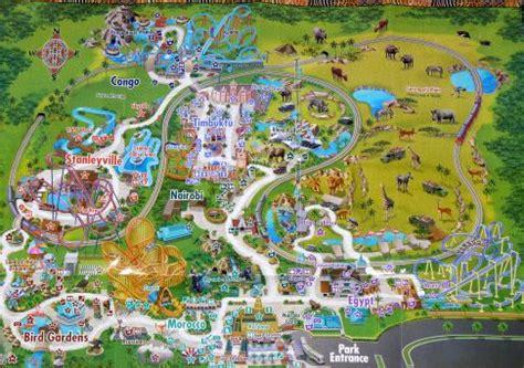 Busch Gardens Park Map by Busch Gardens Map Ta Florida