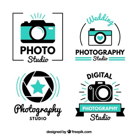 foto design logo modern cute photo studio logos vector free download