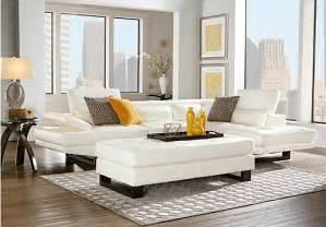 shiloh white 3 pc sectional living room living room sets