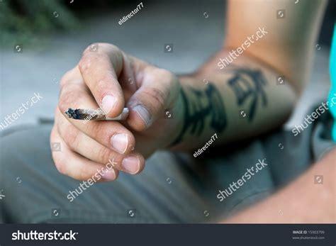 joy tattoo on finger hand tattoo joy stock photo 15903799 shutterstock
