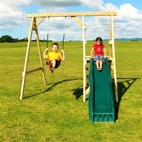 swing set troline combo playzone lewis clark swing n slide combo
