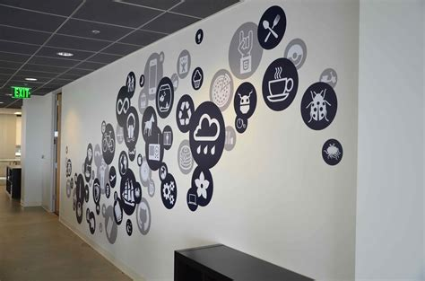 graphic wall stickers creative office branding using wall graphics from vinyl