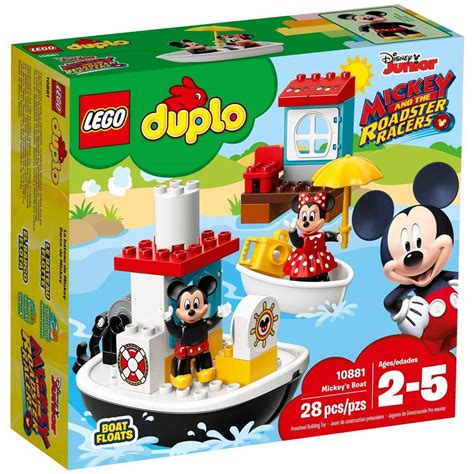 mickey mouse boat lego duplo mickey s boat 10881 big w