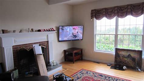 tv in corner of room burlington ct led tv mounting in corner of room richey llc audio experts