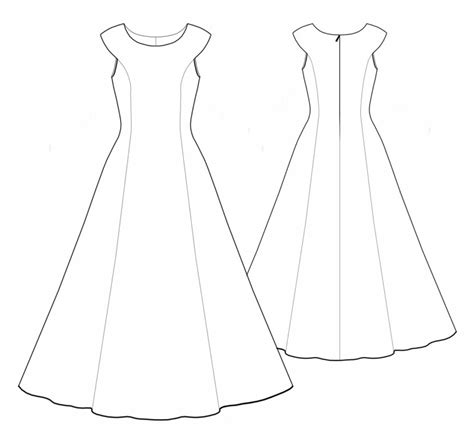 Wedding Dress Outline by Wedding Dress Outline Clipartion