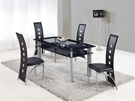 Modern Dinning Room Set Luxury Rectangle Glass Mirrored Dining Igf Usa Extendable Rectangular Frosted Glass Top Leather Modern