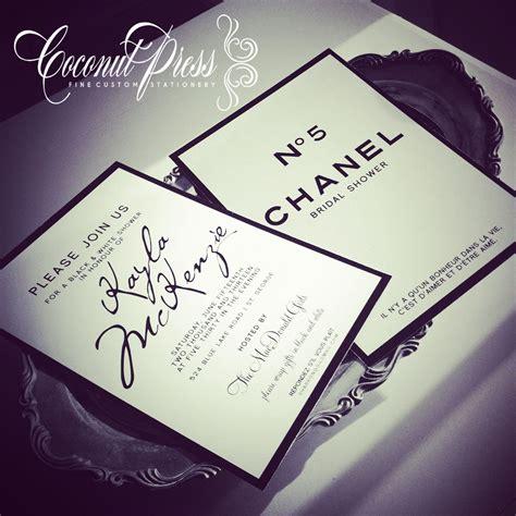 coco chanel wedding invitations coco chanel inspired black white shower invitations