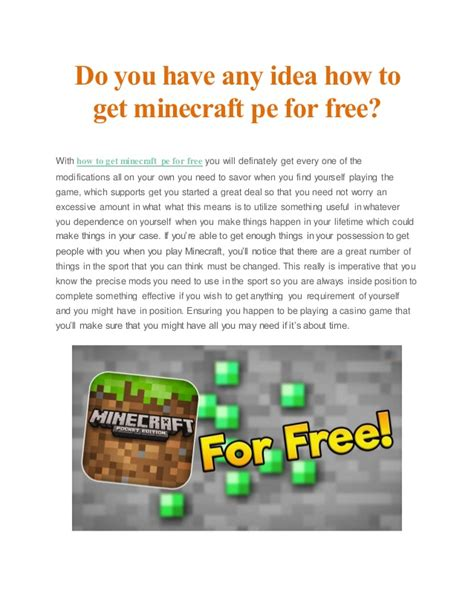 how to get minecraft pe for free on android do you any idea how to get minecraft pe for free