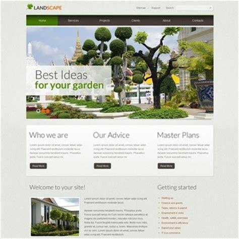 Landscape Design Responsive Website Template 39972 Landscape Architecture Website Templates