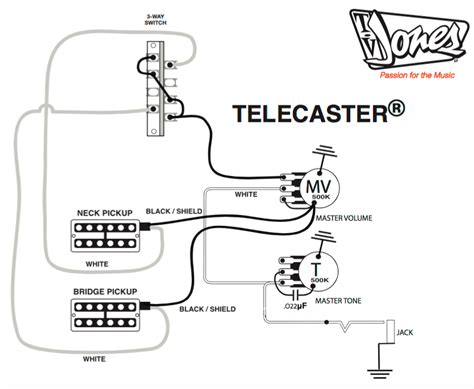 wiring diagram tele bridge and p90 neck telecaster