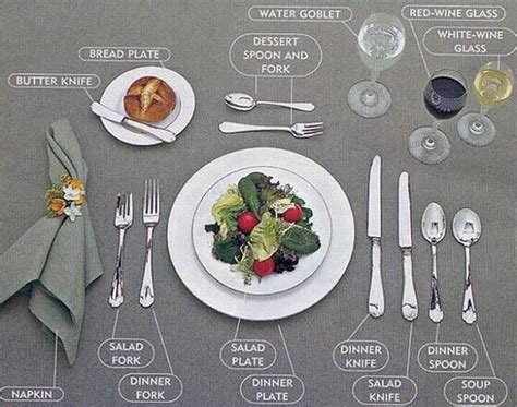 formal dinner place setting 25 best ideas about table setting etiquette on pinterest