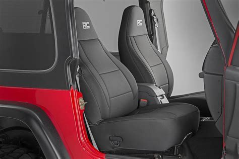 2005 jeep wrangler unlimited seat covers black neoprene seat cover set for 2003 2006 jeep wrangler