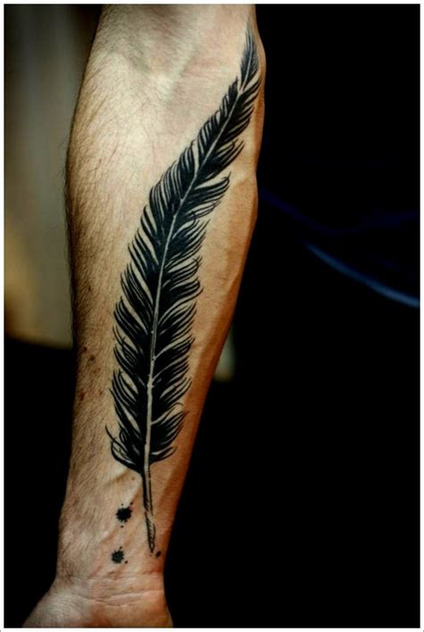 tattoos for men on forearm 40 amazing feather tattoos you need on your