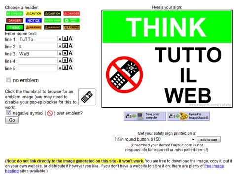 test inglese senza registrazione creare un segnale di pericolo personalizzato con