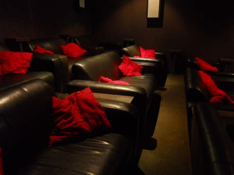 cinema in london with sofas the exhibit london