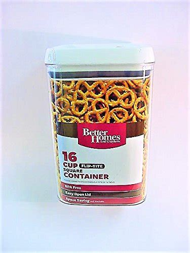 better homes food storage containers better homes and gardens 16 cup flip tite square container