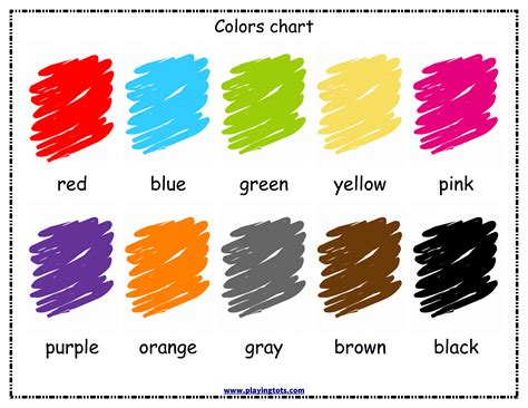 free printable colors chart for your toddler keywords
