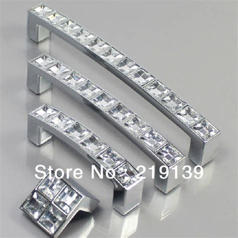kitchen cabinet handles and knobs 10pcs 96mm clear crystal zinc alloy bathroom kids dresser