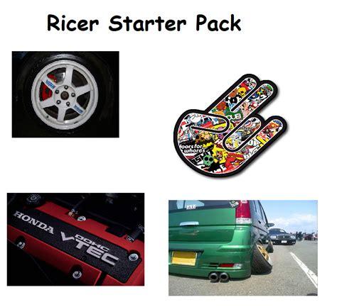 ricer car wheels rice starter pack