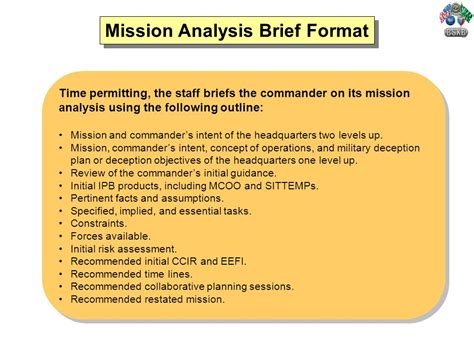 Mission Briefformat Decision Process Mdmp Ppt