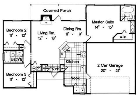 ranch style house plan 3 beds 2 baths 1700 sq ft plan ranch style house plan 3 beds 2 baths 1300 sq ft plan