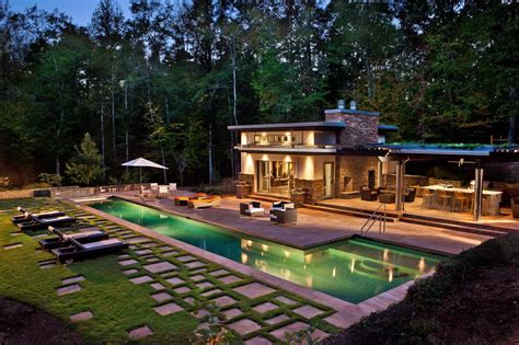 House Plans With Pool House Swimming Pool Pool House Design Decorating 1119805 Pool
