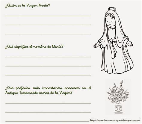 actividades para ninos de la virgen maria la catequesis el blog de sandra recursos catequesis