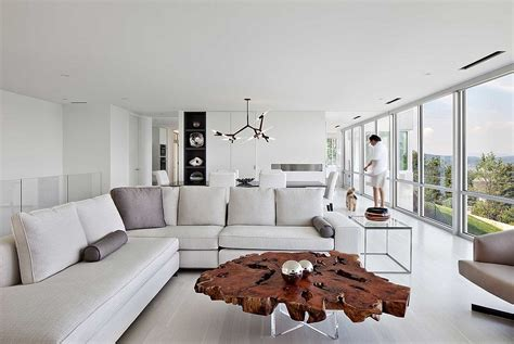 Contemporary Living Room Table 30 Live Edge Coffee Tables That Transform The Living Room