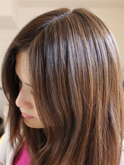 highlighting brown hair with gray roots aveda brown highlights on black hair roots probably a